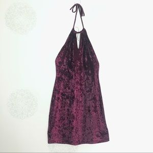 Violet Velvet Sexy Dress